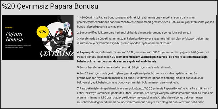 betcool papara bonus